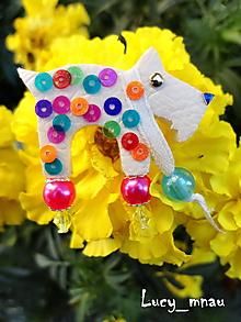 Odznaky/Brošne - Brošnička havko farebný-lentilkový :) - 10883933_