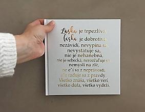 Papiernictvo - Svadobná kniha hostí Láska je trpezlivá - 10882936_