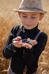 "Doplnky - Svadobný detský motýlik ""ej, zahraj že mi"" - 10881957_"
