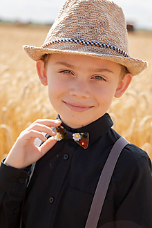 "Doplnky - Svadobný detský motýlik ""ej, zahraj že mi"" - 10881949_"
