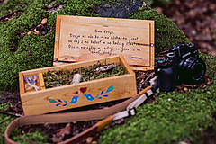 Krabičky - Drevená krabička na fotky s USB - 10884178_