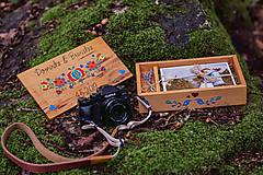 Krabičky - Drevená krabička na fotky s USB - 10884183_