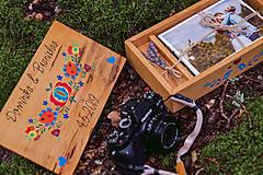 Krabičky - Drevená krabička na fotky s USB - 10884188_