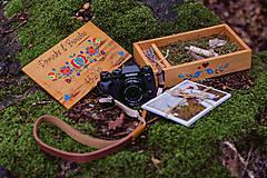 Krabičky - Drevená krabička na fotky s USB - 10884192_