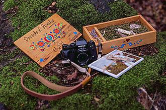 Krabičky - Svadobna drevená krabička na fotky s USB - 10884192_