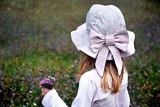 Detské čiapky - Letný utraľahký  klobúk Violet - 10884298_