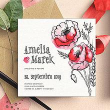 Papiernictvo - Svadobné oznámenie Divé Maky Simple - 10883551_
