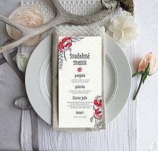 Papiernictvo - Svadobné menu- Divoké Maky - 10883568_