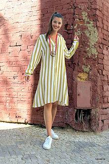 Šaty - Košilové šaty propínací-midi - 10882993_