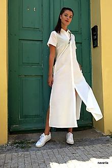Šaty - Košilové maxišaty propínací - 10883025_