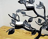 Svietidlá a sviečky - Kovaný svietnik - stromček SVIEČKOVNÍK - 10883676_