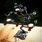 Svietidlá a sviečky - Kovaný svietnik - stromček SVIEČKOVNÍK - 10883678_