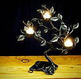 Svietidlá a sviečky - Kovaný svietnik - stromček SVIEČKOVNÍK - 10883683_