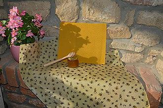 Drobnosti - Usilovné včeličky  (35 x 40 cm) - 10884289_