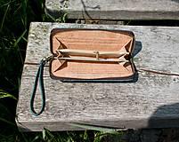 Peňaženky - Dámská korková peněženka BLUE - 10884142_