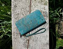 Peňaženky - Dámská korková peněženka BLUE - 10884143_
