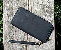 Peňaženky - Dámská korková peněženka BLACK - 10884228_