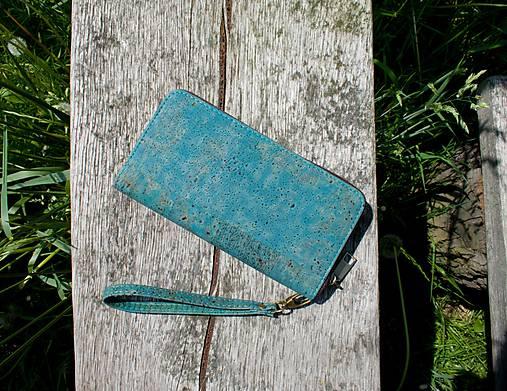 Dámská korková peněženka BLUE