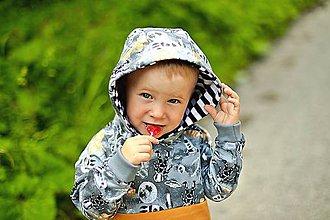 Detské oblečenie - Detská mikina kozmonauti - 10884134_