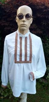 Košele - Pánska košeľa - folklór žije - 10884271_