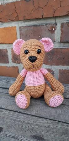 Hračky - Medvedík v ružovom tričku - 10881579_