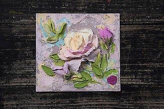 Obrazy - ruža - sculpture painting - 10881852_