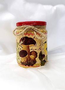 Nádoby - Dóza na sušené huby - 10884248_