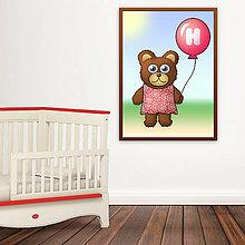 Detské doplnky - Macík a balónik do detskej izby (šatičky vzorové) - 10881684_