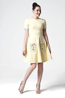 Šaty - Šaty Záhradá pastelovo žlté - 10884386_