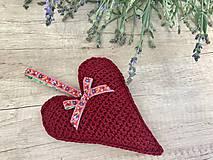 Dekorácie - Veľké levanduľové srdce - 10884592_