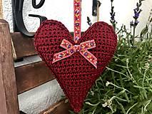 Dekorácie - Veľké levanduľové srdce - 10884593_
