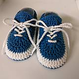 Topánočky - Háčkované tenisky (Žltá) - 10886259_