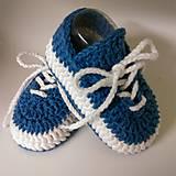 Topánočky - Háčkované tenisky (Žltá) - 10886262_
