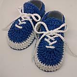 Topánočky - Háčkované tenisky (Žltá) - 10886761_
