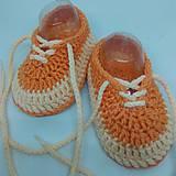 Topánočky - Háčkované tenisky - 10886775_