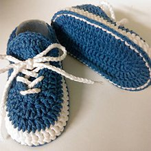 Topánočky - Háčkované tenisky (Žltá) - 10886261_