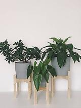 Nádoby - Drevený stojan na kvetináč  (Veľký) - 10886578_