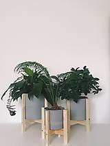 Nádoby - Drevený stojan na kvetináč  (Veľký) - 10886579_