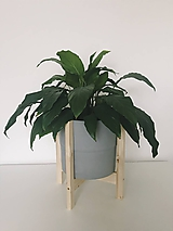 Nádoby - Drevený stojan na kvetináč  (Veľký) - 10886584_