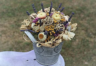 Dekorácie - Aranžmán zo sušených kvetov - 10885512_