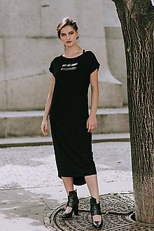 Šaty - FNDLK bambus šaty 410 RKkLo midi vzadu delší - 10885565_