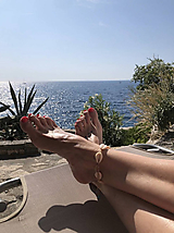 náramok na nohu z mušlí