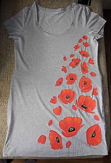 Tričká - V záplave červených makov - tričko - 10885792_