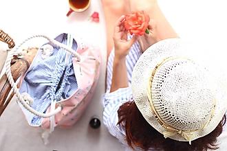 Veľké tašky - Obrovská plážová taška - opaľujúce sa slečny na ružovom - 10885306_