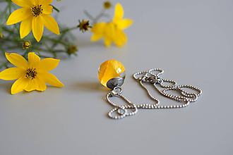 Náhrdelníky - Náhrdelník Žltý iskerník gulička (2632 A CHO) - 10885851_