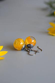 Náušnice - Náušnice Žltý iskerník guličky (2632 B CHO) - 10885942_