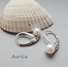 Náušnice - Strieborné náušnice s riečnými perlami - 10885773_