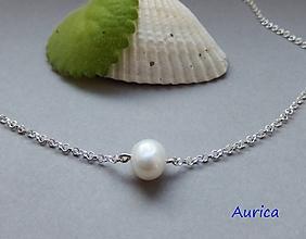 Náhrdelníky - Riečná perla na strieborné retiazke - 10885909_