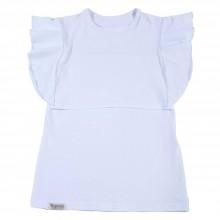Tehotenské/Na dojčenie - Tričko na dojčenie - s volánom white - 10884384_