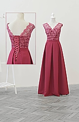 Šaty - Spoločenské šaty s viazaním - 10884383_